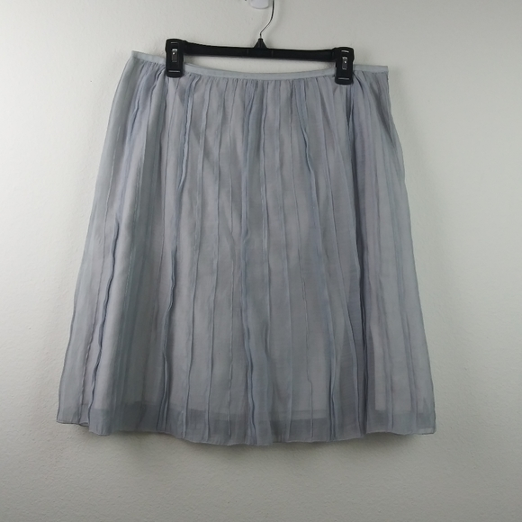 NIC+ZOE Dresses & Skirts - Nic + Zoe Batiste Pleated Blue Grayish Skirt(16)